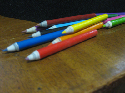 color-pencils-recycled-newspaper