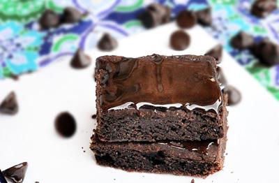 Healthy Fudge Brownies photo by chocolate-covered KATIE